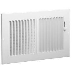 """6"""" x 6"""" (Wall Opening Size) White Two-Way Steel Sidewall/Ceiling Register (682 Series) Product Image"""