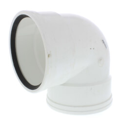 """6"""" PVC SDR 35 1/4 Bend 90° Elbow (G x G) Product Image"""