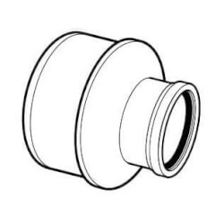 "8"" x 4"" PVC SDR 35 Extended Bushing (Concentric SPG x G) Product Image"
