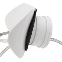 "4"" x 8"" PVC SDR 35 Saddle Tee (Gasketed) Product Image"