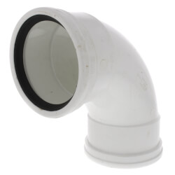 """4"""" PVC SDR 35 1/4 Bend 90° Elbow (G x G) Product Image"""