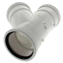 """6"""" x 6"""" x 4"""" PVC SDR 35 1/8 Bend 45° Wye (G x G x G) Product Image"""