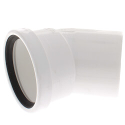 "4"" PVC SDR 35 1/8 Bend 45° Elbow, Street (Spigot x G) Product Image"