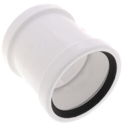 """4"""" PVC SDR 35 Coupling w/ Stop (G x G) Product Image"""