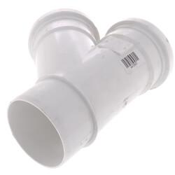 "4"" PVC SDR 35 1/8 Bend 45° Wye, Street (Spigot x G x G) Product Image"
