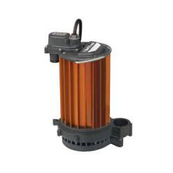 1/2 HP Man. Aluminum Submersible Sump Pump<br>115v - 10' Cord Product Image