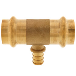 "3/4"" x 3/4"" x 1/2"" Press x Press x PEX Crimp Tee Product Image"