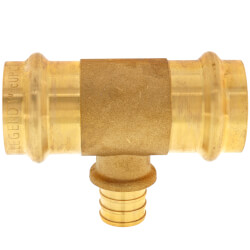 "1"" x 1"" x 3/4"" Press x Press x PEX Crimp Tee Product Image"