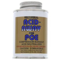 Acid-Away Compressor Burnout Acid Neutralizer for Polyol Ester Oils (4 Oz) Product Image