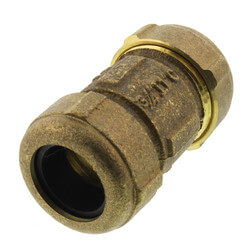 "3/4"" IPS (1"" CTS) Brass Compression Coupling (Lead Free) Product Image"