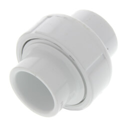 "1/2"" PVC Sch. 40<br>Socket Union<br>w/ Buna-N O-ring Product Image"