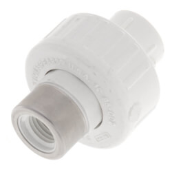 "3/8"" PVC Socket x Spec. Reinforced Female Union<br>w/ Buna O-Ring Product Image"