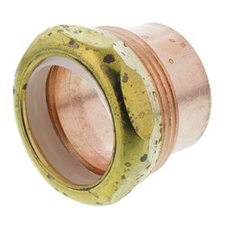 "1-1/2"" Copper DWV<br>Fitting Trap Adapter<br>(FTG x Slip Joint) Product Image"