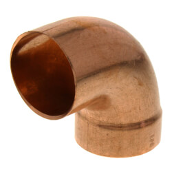 """1-1/2"""" Copper DWV<br>90° Street Elbow Product Image"""