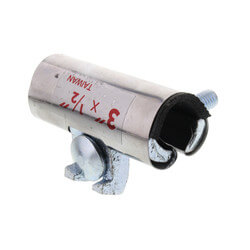 """1/2"""" x 3"""" Stainless Steel Pipe Repair Clamp Product Image"""