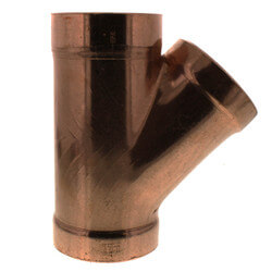 """3"""" Wrot Copper DWV Wye Product Image"""