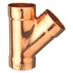 """3"""" x 3"""" x 1-1/2""""<br>Wrot Copper DWV Wye Product Image"""