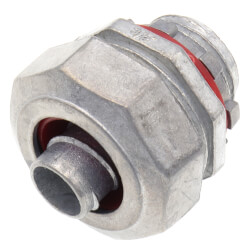 """3/8"""" Zinc Straight Liquid Tight Connector Product Image"""