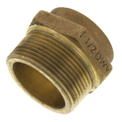 """1-1/2"""" Cast Brass DWV<br>Male Adapter Product Image"""