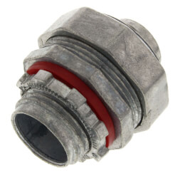 """3/4"""" Zinc Straight Liquid Tight Connector Product Image"""
