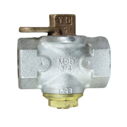 "560G 1-1/2"" FNPT Zinc Gas Plug Valve Lockwing (175 PSI) Product Image"
