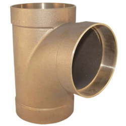 "4"" Cast Copper DWV Sanitary Tee Product Image"