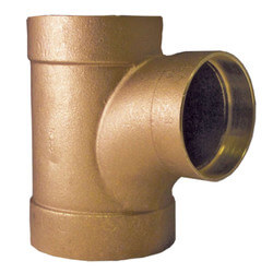 "4"" x 4"" x 2"" Cast Copper DWV Sanitary Tee Product Image"