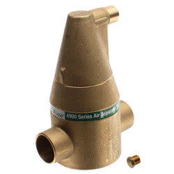 "1-1/4"" Brass 4900 Series Air Separator (Sweat) Product Image"
