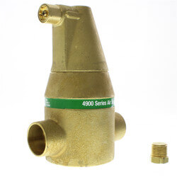 "1-1/2"" Brass 4900 Series Air Separator (Sweat) Product Image"
