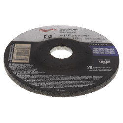 """Replacement Type 27 Grinding Wheel (4-1/2"""" x 1/4"""" x 7/8"""") Product Image"""