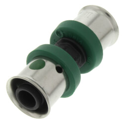 """3/8"""" PEX Press Polymer Coupling (Lead Free) Product Image"""