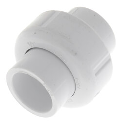 "1/2"" Sch. 40 PVC<br>Socket Union<br>w/ EPDM O-ring Product Image"