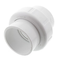 "1-1/2"" Sch. 40 PVC<br>Socket Union<br>w/ EPDM O-ring Product Image"
