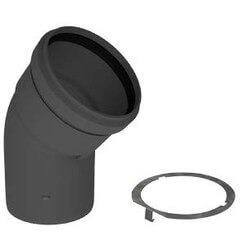 "4"" PolyPro 45° Black UV Resistant Elbow w/ LB2 Product Image"