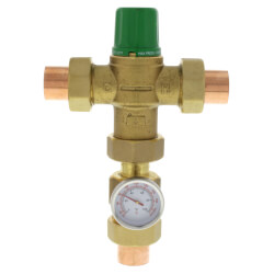 "3/4"" Sweat Union 5003 Mixing Valve w/ Gauge (Low Lead) Product Image"
