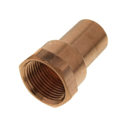 "3/4"" FTG x FPT Copper Female Street Adapter Product Image"