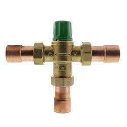 "1"" Sweat Union 5004 Heating Only Mixing Valve Product Image"