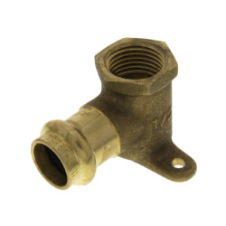 "1/2"" Press x Female Copper 90° 2 Hole Drop Ear Elbow Product Image"