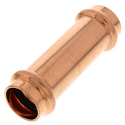 """3/4"""" Press Extended Length Copper Coupling, No-Stop Product Image"""