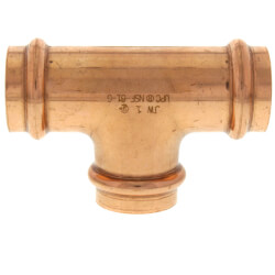 "1"" Press Copper Tee Product Image"