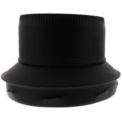 "8"" Black Stovepipe Adapter (TLCSPA Series) Product Image"