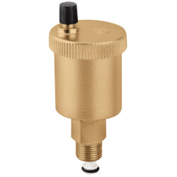 "1/8"" Male NPT MINICAL Automatic Air Vent w/ Service Check Valve and Hygroscopic Anti-Drip Cap Product Image"