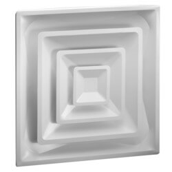 """High Volume Supply Ceiling Diffuser w/ 6"""" Collar (HVS Series) Product Image"""