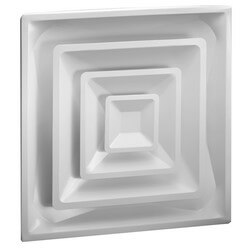 "4-Way Steel Ceiling Diffuser w/ 6"" Collar<br>(FPD Series) Product Image"