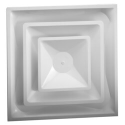 "4-Way Steel Ceiling Diffuser w/ 8"" Collar<br>(FPD Series) Product Image"