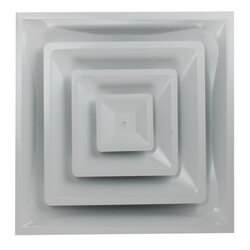 """Steel Fixed Pattern Diffuser w/ 8"""" Collar<br>(FPD3 Series) Product Image"""