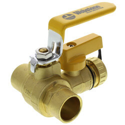 """3/4"""" Sweat PRO-PAL<br>Ball Valve w/ Drain<br>(Lead Free) Product Image"""