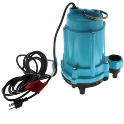 6EC-CIM 1/3 HP, 53 GPM Man. Submersible Sump Effluent Pump, 20' Cord Product Image