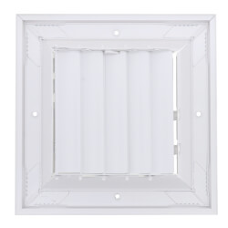 "6"" x 6"" (Wall Opening Size) White Ceiling Diffuser (A505MS Series) Product Image"