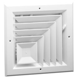 "10"" x 10"" (Wall Opening Size) White Ceiling Diffuser (A505MS Series) Product Image"